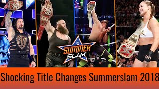 Shocking Title Changes At Summerslam 2018 ! New Champions ! Summerslam 2018 Highlights Matches !