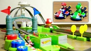 速すぎる!爆音すぎる!ホットウィール マリオカート マリオサーキット トラックセット 電動ブースターでノンストップレース!MARIOKART HOT WHEELS