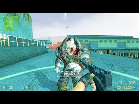 Counter Strike Source - Zombie RIot Mod Online Gameplay On Port Map