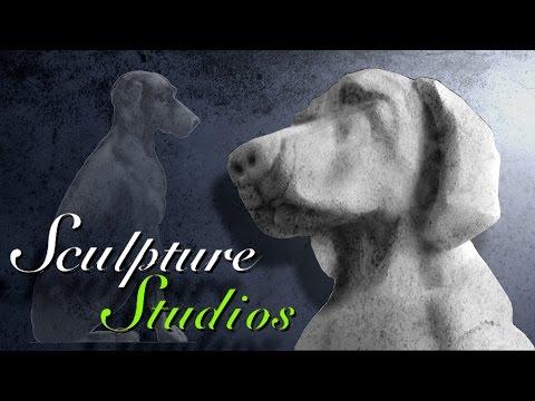 Giant Concrete Dog Polystyrene / Styrofoam Carving by Sculpture Studios