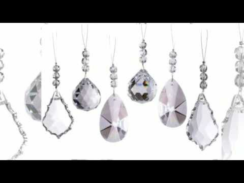 sparkling diamond cut crystal christmas ornaments set of 6 christmas ornamentssuncatchers youtube - Crystal Christmas Decorations