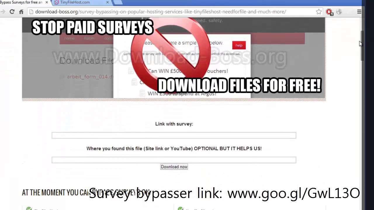 How to bypass surveys to download files? Easy steps to skip surveys.