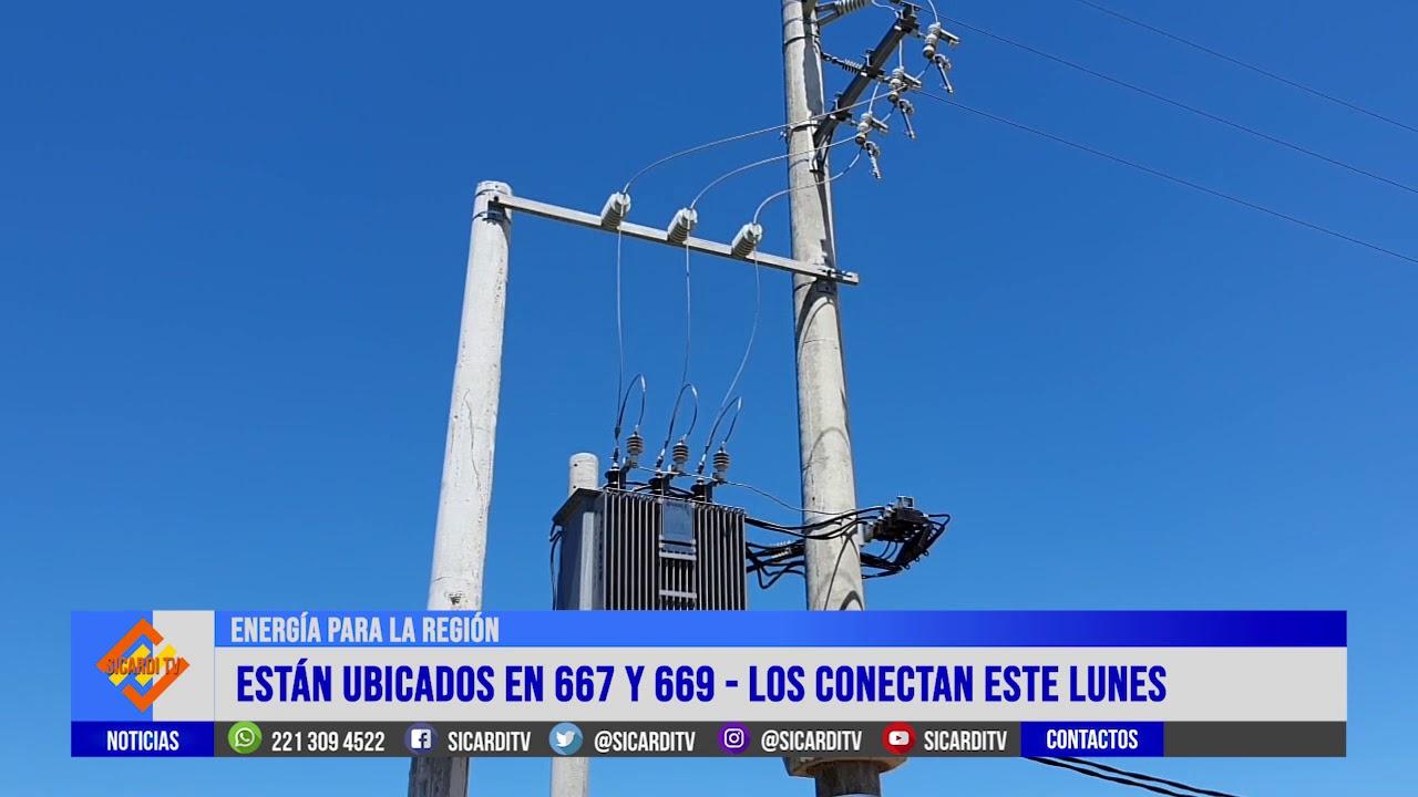 Edelap instala dos nuevos transformadores en la región