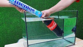 Experiment: Coca Cola and Mentos Under Water