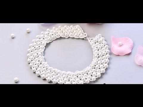 vid o 53 p comment faire un collier avec perles en verre nacr youtube. Black Bedroom Furniture Sets. Home Design Ideas