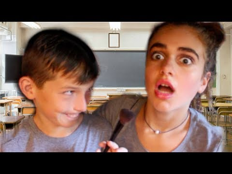 MY BROTHER ATTEMPTS TO DO MY BACK 2 SCHOOL MAKEUP | Back to School 2017!