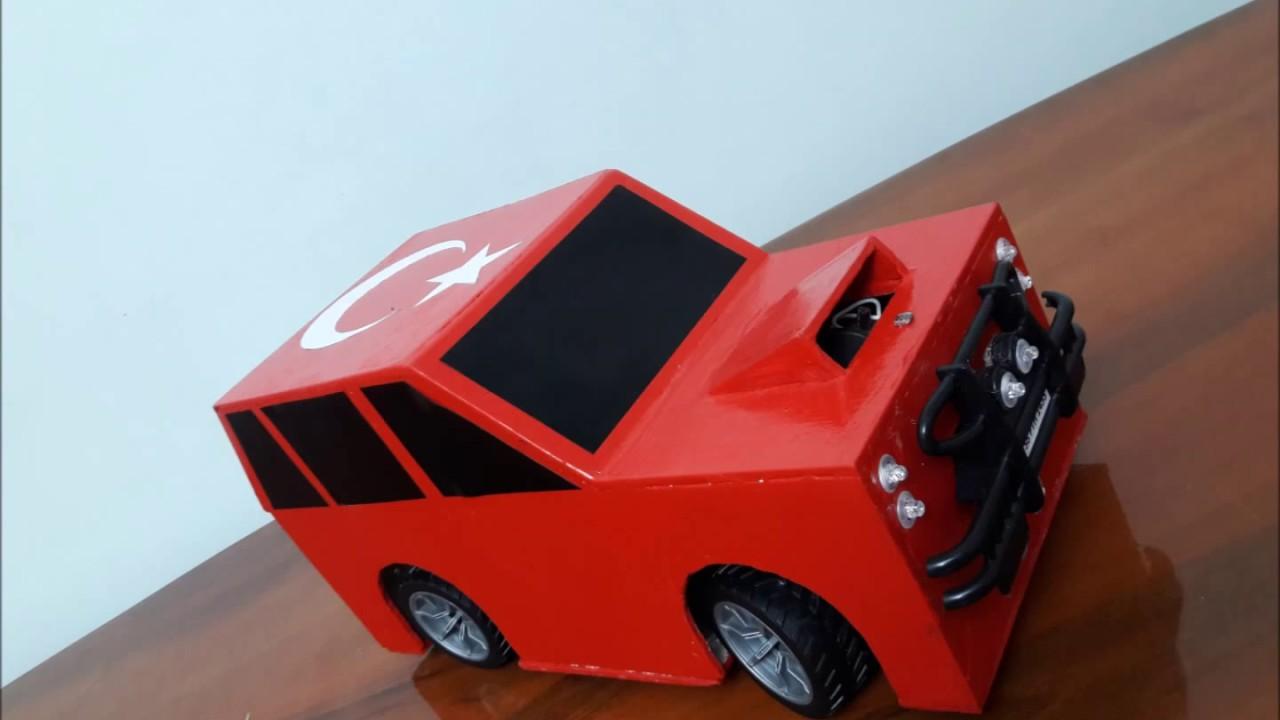 Arduino ile android kontrollü araba yaptım