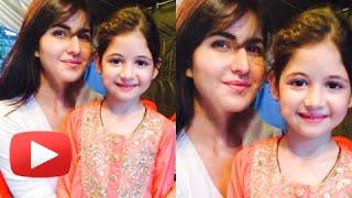 Katrina Kaif With Harshaali Malhotra   Bajrangi Bhaijaan Sets
