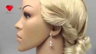 Bije.ru: Свадебный комплект (подвеска, серьги и диадема) со стразами Enel (Энель)