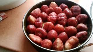 Домашние дела♡ заготовка клубники на зиму♡ клубничный торт без выпечки♡