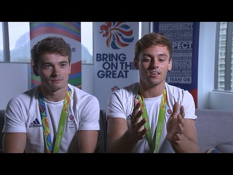Tom Daley jokes about Rio 2016's green diving pool