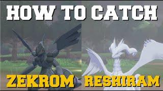 HOW TO CATCH ZEKROM & RESHIRAM IN POKEMON SWORD AND SHIELD CROWN TUNDRA LEGENDRIES (ZEKROM LOCATION)