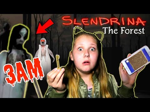 SLENDRINA The FOREST GAME IN REAL LIFE AT 3AM!! *Granny's Granddaughter*