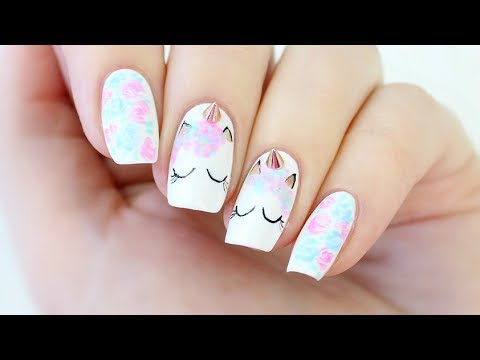 Unicorn Nail Art! - YouTube
