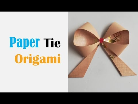 How to make a paper Bow/Ribbon । Easy origami Bow । Ribbons for beginners making Paper Crafts