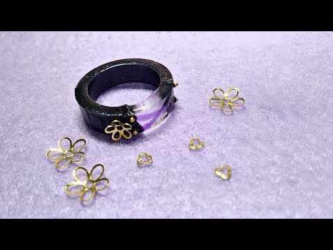 [100 Character Rings] SHUT UP GIORNO! Jojo Leone Abbacchio DIY Ring- 100CR #3 ⏪ | Watch me Resin
