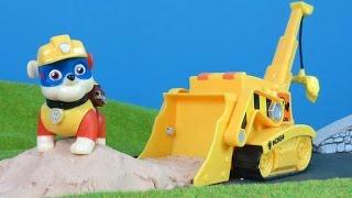 Paw Patrol deutsch: Bagger & Kran Unboxing von Rubble | Bau Video für Kinder