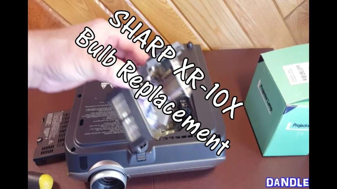 diy how to replace the sharp xr 10x projector bulb youtube rh youtube com Sharp Notevision Projector DLP Sharp Notevision XR-10X