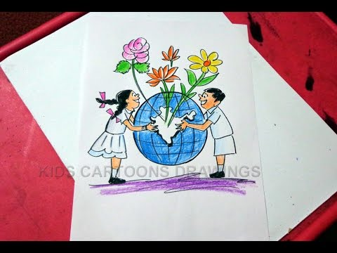 How to Draw Clean India Green India Drawing for Kids Step by Step