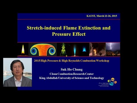 Dr. Chung: Stretch-induced Flame Extinction and Pressure Effect