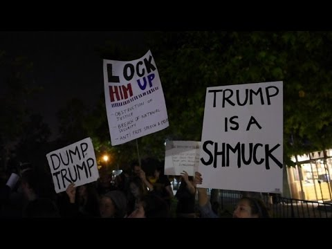 Activists stage anti-Trump protest in Jerusalem