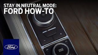 Rotary Gear Shift Dial with Stay in Neutral Mode | Ford How-To | Ford thumbnail