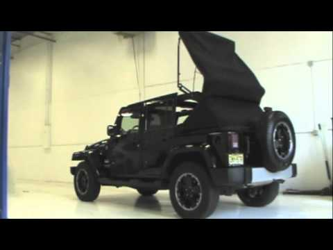 Jeep Wrangler Electric Top >> Jeep Jk Power Soft Top Youtube