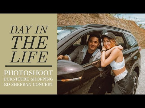 A Day In The Life- Photoshoot, Furniture Shopping, Ed Sheeran Concert | Kryz and Slater