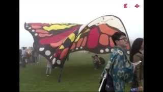 6000 long kite flown at int'l kite festival in Chongqin, SW China