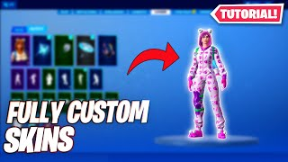 How to make *FULLY CUSTOM SKINS* in fortnite! (Season 9)