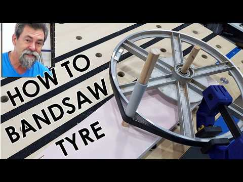 How to replace a bandsaw tyre the easy way. Dave stanton woodworking