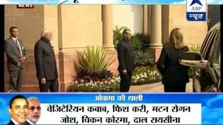 Obama Visit: Obama arrives Hyderabad House I PM welcomes