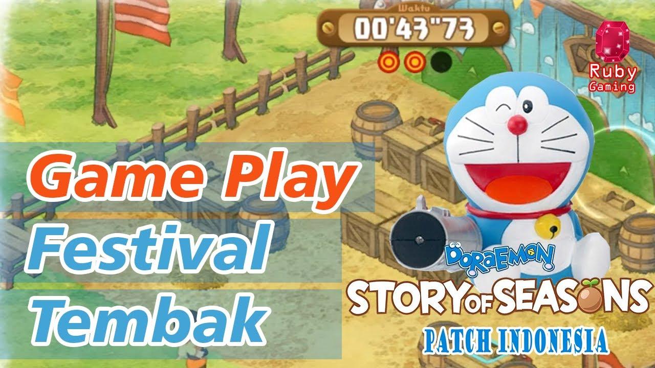 #Doraemon Game Play Festival Tembak (Cork Rifle Event) Doraemon Story Of Seasons Patch Indonesia