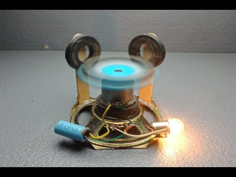 Free Energy Generator Magnet Speaker with fan 100% Real - New Technology Science Project
