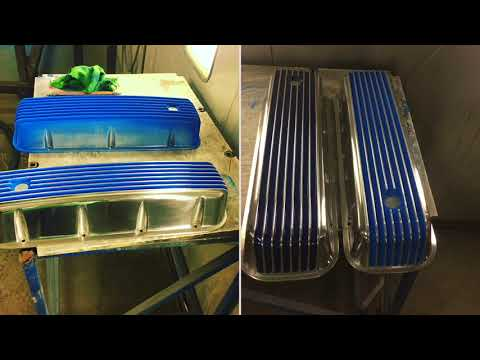 How powder coating valve cover
