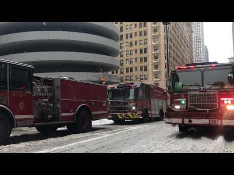 Car catches fire at Magnificent Mile parking garage