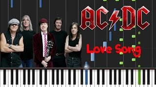 AC/DC - Love Song Synthesia Tutorial