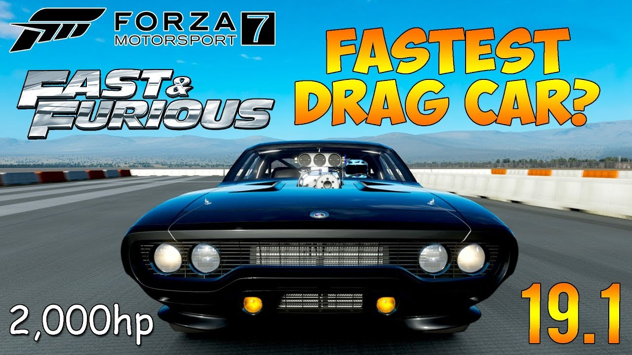 Forza Motorsport 7 Fastest Drag Car Build 19 0s 2000hp Fast Furious Car Youtube