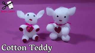 Best Out Of Waste Cotton Reuse Idea | How To Make Teddy Bear With Cotton | Reuse Waste Cotton