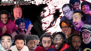 YUJI & TOUDOU vs  HANAMI | JUJUTSU KAISEN EPISODE 19 BEST REACTION COMPILATION