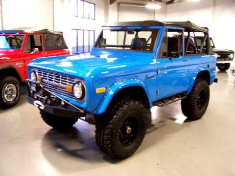 1971 Ford Bronco Frame Off Red For Now