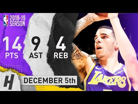 Lonzo Ball Full Highlights Lakers vs Spurs 2018.12.05 - 14 Pts, 9 Ast, 4 Rebounds!