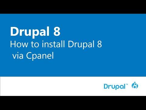 Drupal 8 basic part 1: Install drupal 8 via Cpanel