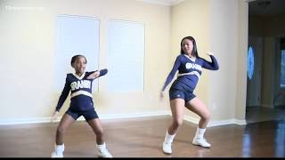 Sisters' double dance routine goes viral