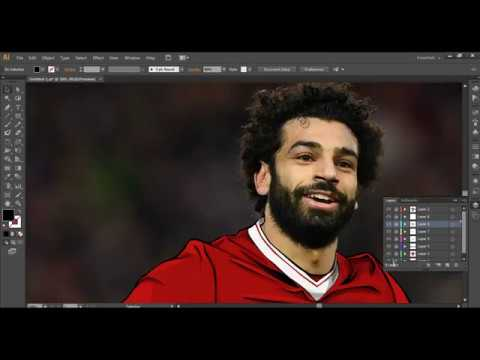 Muhammed Salah Vektör Çizim Dersi - 1 (Adobe Illustrator)
