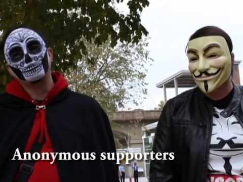 Supporters of Anonymous take part in Million Mask March in Knoxville