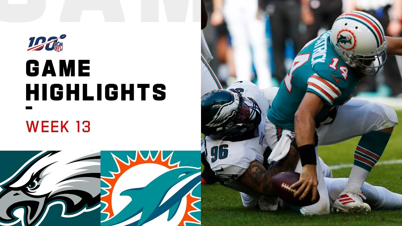 Eagles vs. Dolphins Week 13 Highlights | NFL 2019