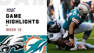 Eagles vs. Dolphins Week 13 Highlights   NFL 2019