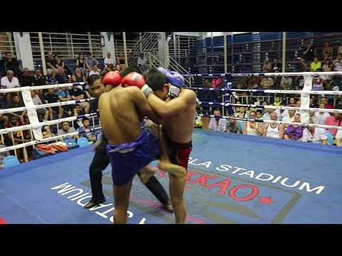 Jang Ju PhuketTopTeam vs Biblelek Thailand Muay Thai fight 16 Feb 2018