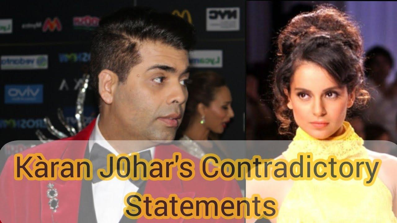 Karan Johar || Karan Johar's Contradictory Statements
